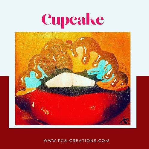 Cupcake Original Canvas Wall Art