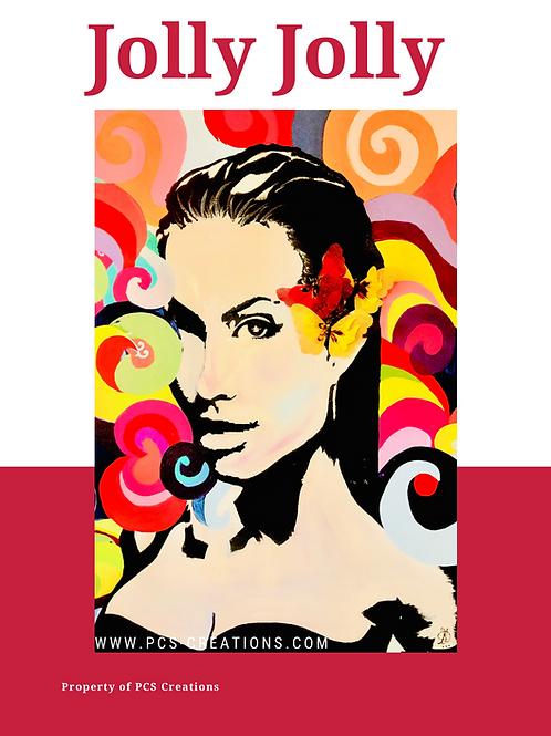 Jolly Jolie Canvas Wall Art