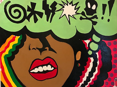 Trini Gal Canvas Wall Art
