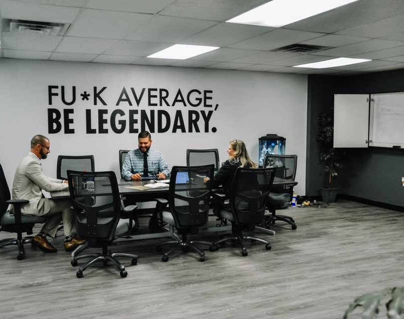 Ryno team meetin in the conference room. Be legendary.