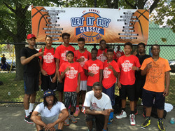 Team YRN with coaches James Alphone and Christopher Phanord