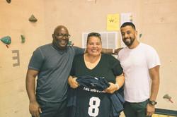 City Councillors Damali Vidot Rosa and Yamir Rodriguez pose for photos pictures