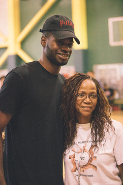 Nerlens Noel With CBC Co-Founder, Joan Cromwell