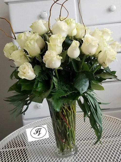 3 Dozens of White Roses