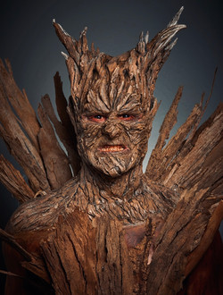 Tree Demon,Foam Latex full head prosthetic. Sculpted, moulded, applied and painted by Tania de Ross.