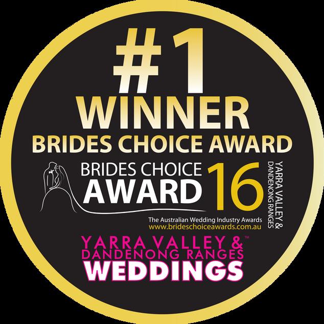Yarra Valley Brides Choice Award WINNER