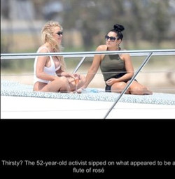 On a yacht with Pamela Anderson