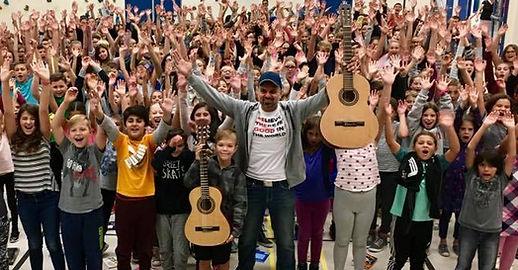 McCaig Elementary, Rosemere, SWLSB, Sir Wilfrid Laurier School Board, Guitar Teacher, Artist JAYE, The Sharing Music Unites Us™ cause