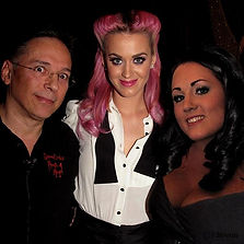 Katy Perry with simon and Abby Drake at The House of Magic