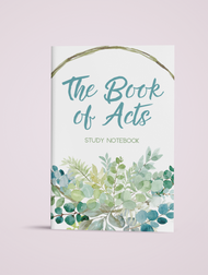 The Book of Acts Study Notebook