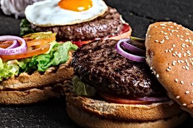 Two Delicious Hamburgers