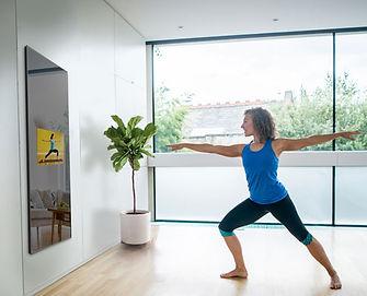 fitness mirror smart, mirror tv, gym