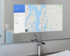 smart mirror, home automation, google maps