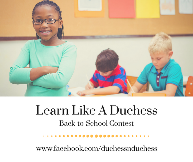 Learn like a Duchess Back-to-School Contest!