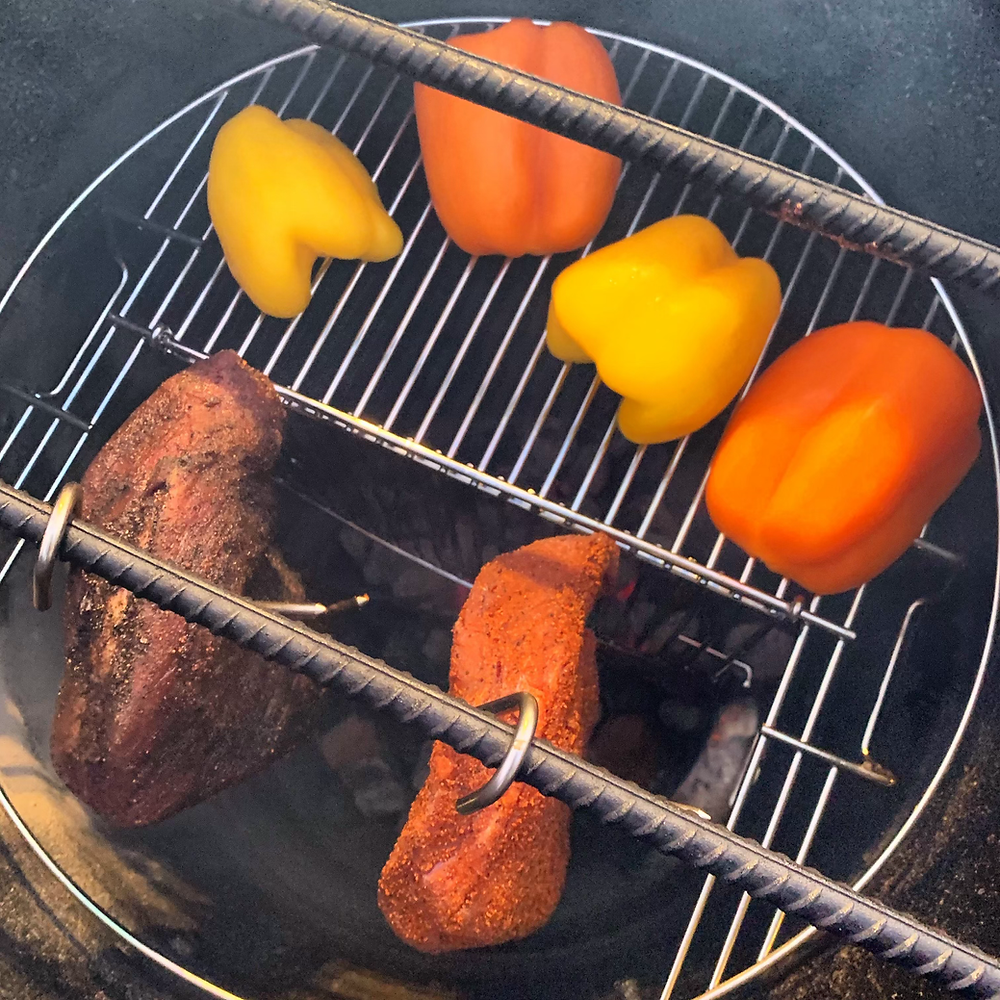 Hang and grill at the same time.