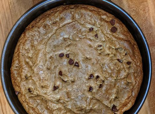 Cast Iron Skillet Chocolate Chip Cookie Pie