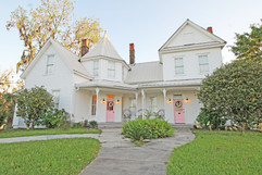 The beautiful exterior of our historic home!