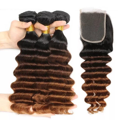Tissage  Humain 3X18+14closure