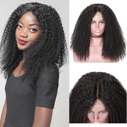"""Kinky Curly Lace Front Human  12"""""""