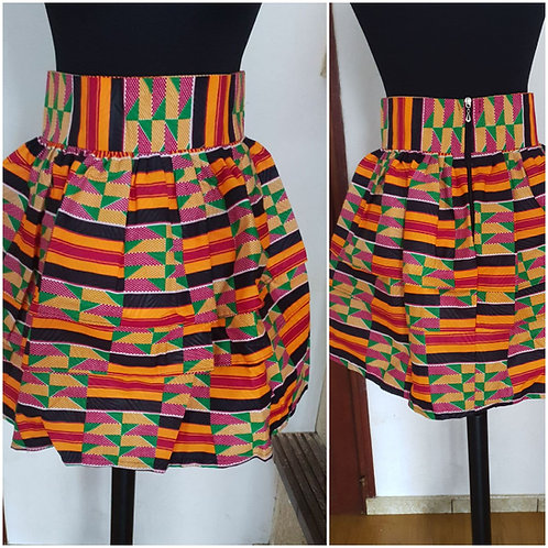 Mini-jupe plissée variée