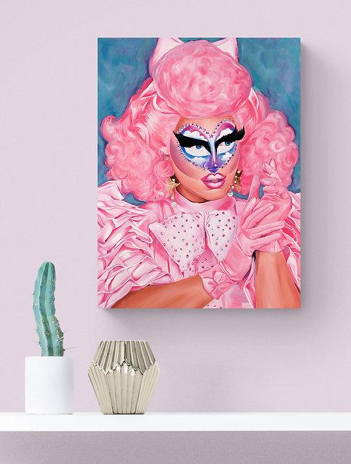 """Rock M Sakura RuPaul's Drag Race Original Oil Painting - 24""""x18"""""""
