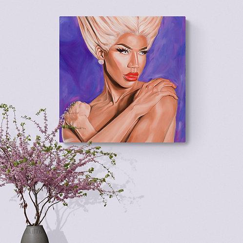 "Naomi Smalls Original Oil Painting 16""x16"""