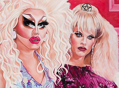 Trixie & Katya Giclée Art Print