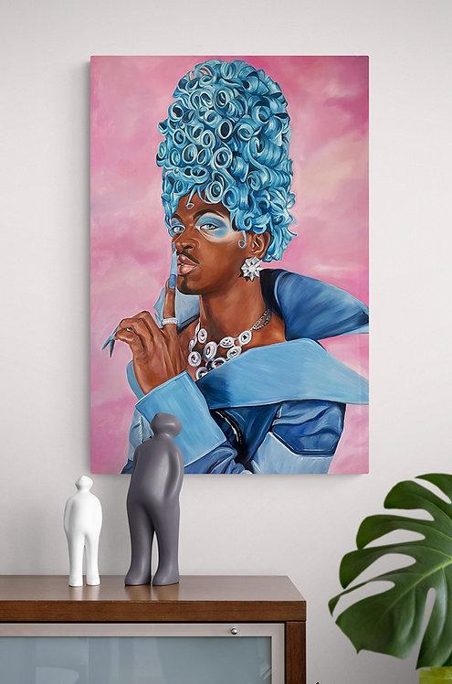 "Lil Was X Montero Original Oil Painting 30""x20"""