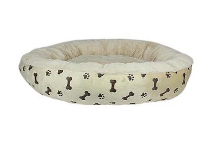 Khaki Paw Print Bed