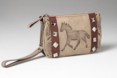 American West Leather Clutch