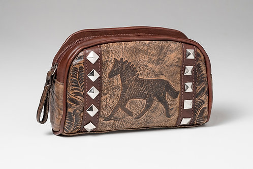 American West Leather Cosmetic Bag
