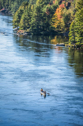 Paddling the French River