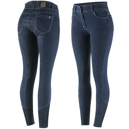 Horze Arabella Ladies' Silicone FS Denim Breeches
