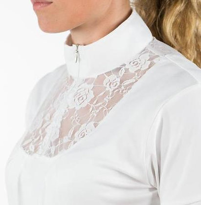 Horze Women's Lace-Detail Technical Show Shirt