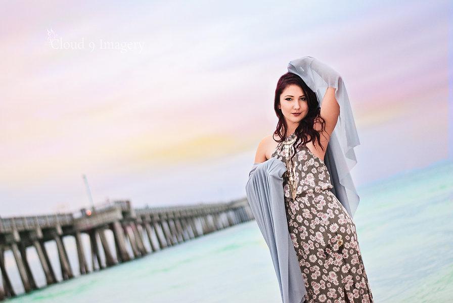 Girl Closeup in Fog - Senior Photography - Panama City Beach Photographer