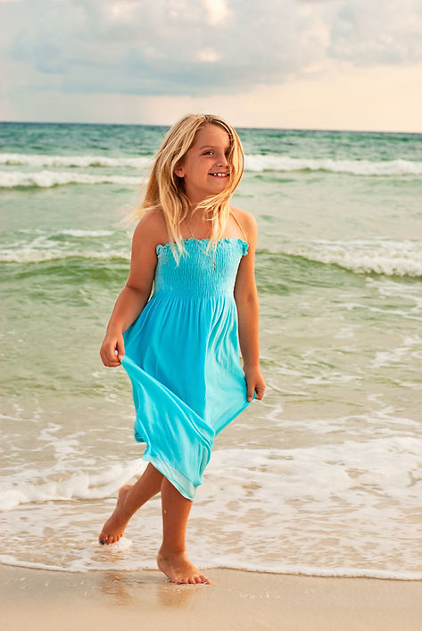 Girl On Beach - Beach Photography - Panama City Beach Photographer