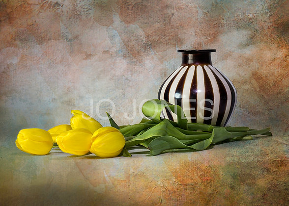 Yellow Tulips and Vase