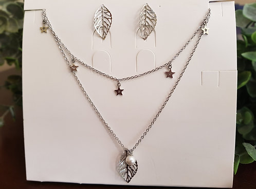 Leaves Necklace Set