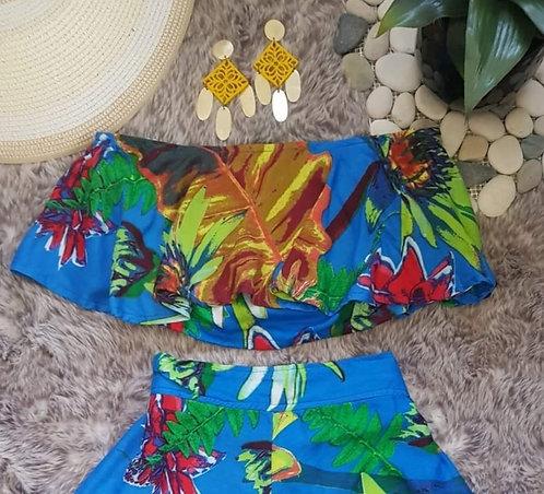 Bea Tropical Crop Top