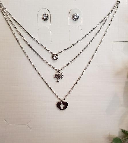 Triple Necklace Set