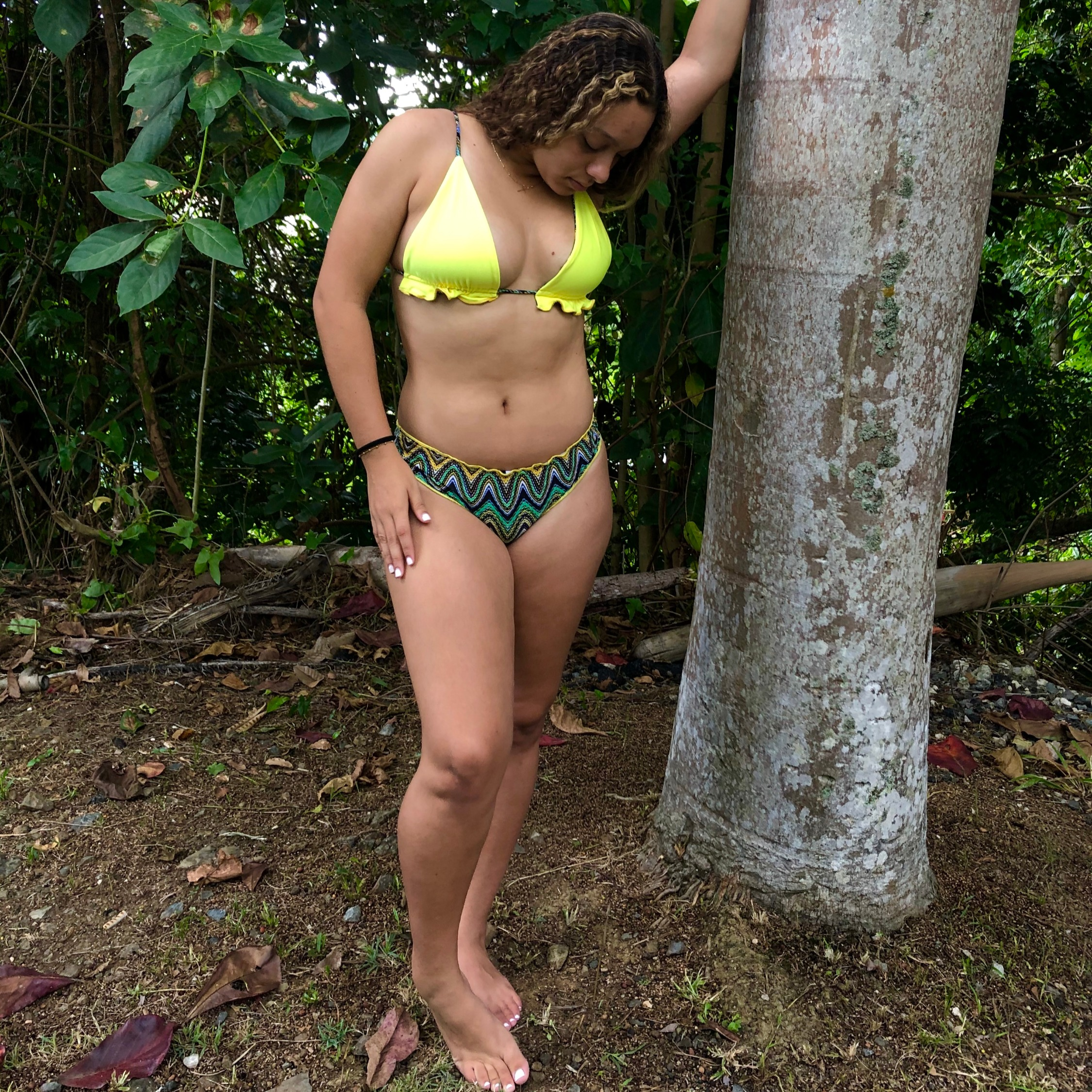 Pineapple Reversible 3 Piece Bikini