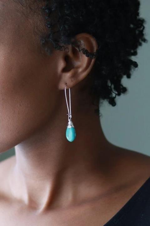 Turquoise Teardrop Earring FO 00TTS