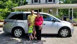 Steve & Caitlin Mariconti Honda Odyssey.