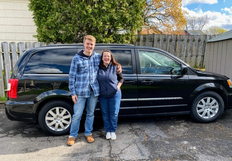 Aaron & Sarah Sevedge - Chrysler Town & Country