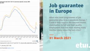 Diskussion über die Jobgarantie bei etui am 31.3.2021