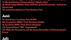 Finanzkrisen und Geldsysteme -Ringvorlesung der Kritischen Wirtschaftswissenschafter*innen FU