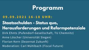 Online-Diskussion zu Staatsschulden am 9.9.2021