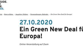 Online-Vortrag bei DIEM25 in Bonn zum Green (New) Deal