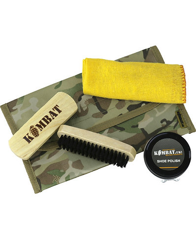Military Boot Care Kit - with BROWN polish