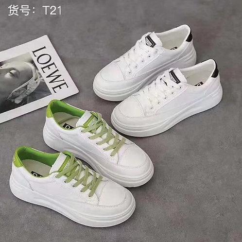 Platform White Sneakers (T21)